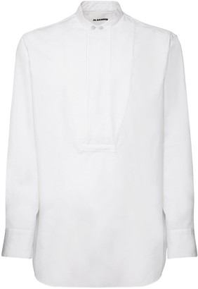 Jil Sander Korean Collar Cotton Poplin Shirt