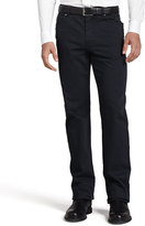 Ermenegildo Zegna Five-Pocket Brushed Twill Pants, Navy