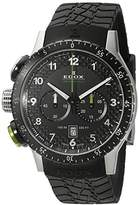 Edox Unisex Watch RALLY CHRONORALLY 1 Instrument Chronograph Quartz Rubber 10305 3NV NV