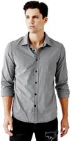 GUESS Micro-Checkered Slim-Fit Shirt