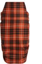 Vivienne Westwood McBrick Tuck tartan wool skirt