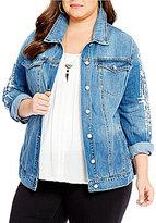 Jessica Simpson Plus Peri Denim Jacket