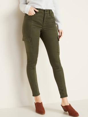 Old Navy High-Waisted Sateen Rockstar Super Skinny Cargo Pants for Women