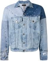 Amiri reconstructed denim trucker jacket