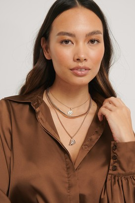 NA-KD Flat Chain Pendant Necklace