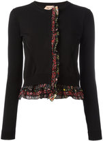 No.21 frill trim cardigan - women - Cotton/Silk - 42