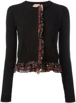 No.21 frill trim cardigan - women - Silk/Cotton - 40