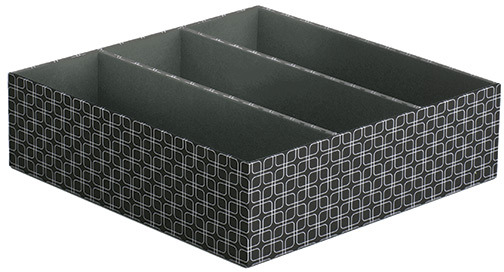Container Store 3-Section Drawer Organizer Milano Grid