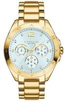 Coach Women's Tristen 36mm Bracelet Watch Light Blue/Gold Watch