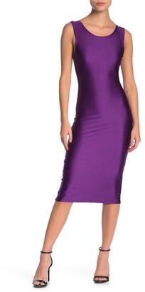 Velvet Torch Solid Sleeveless Racerback Midi Dress