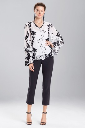 Natori Embroidered Long Sleeve Top