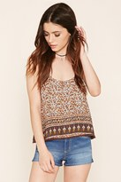 Forever 21 Abstract Floral Tank Top