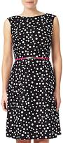 Adrianna Papell Sleeveless Cotton Shift Dress, Black/Ivory