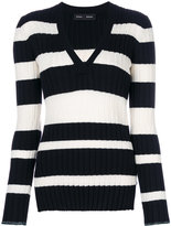 Proenza Schouler striped v-neck knitted top