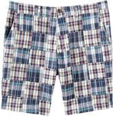 Joe Fresh Men's Plaid Patchwork Short, Turquoise (Size 40)