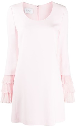 Giambattista Valli Chiffon-Trimmed Crepe Dress
