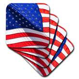 3dRose cst_53605_2 Americana-Usa-Patriotic-Photography-Stars and Stripes-4Th of July-Soft Coasters, Set of 8