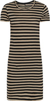Enza Costa Striped Pima cotton-jersey mini dress