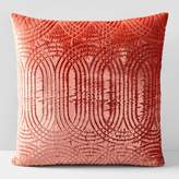 west elm Lush Velvet Infinity Quilted Pillow Cover