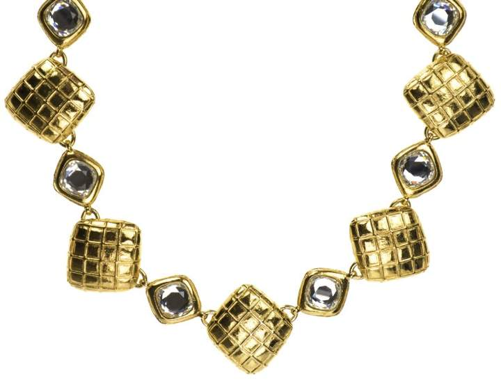 Chanel Quilted Crystal Choker