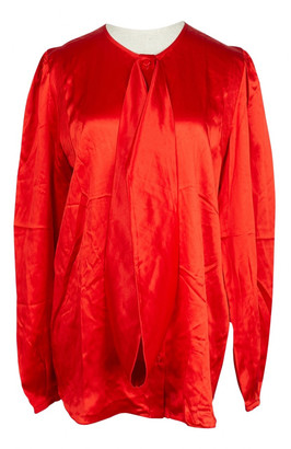 Givenchy Red Silk Tops