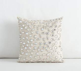 Pottery Barn Kids Mini Embellished Decorative Pillow, 10x10 Inches, Silver