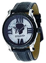 Colosseum Italico Men's ITCP03-F Black IP White Dial Leather Watch