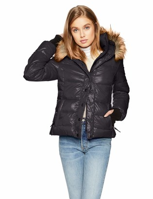 S13 Women's Kelly Hip Length Down Puffer with Faux Fur Hood