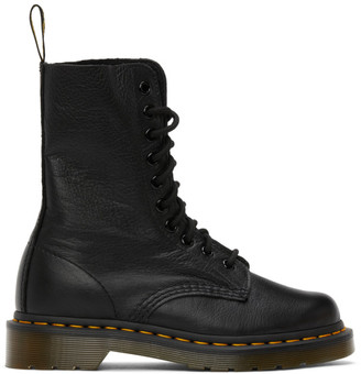 Dr. Martens Black Virginia Mid-Calf Boots