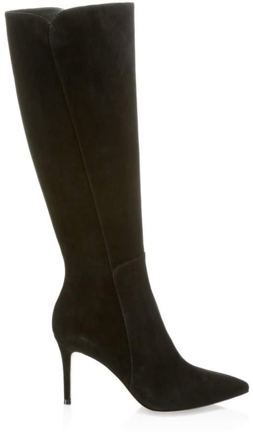 3c9736825302 Black Knee High Stiletto Boots - ShopStyle UK