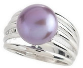 Honora As Is Sterling Cultur ed Pearl 10.0mm Button Ring