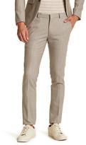 Topman Beige Flat Front Suit Separates Pant