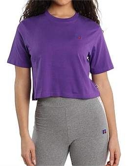 Russell Athletic Olivia Crop Logo T-Shirt