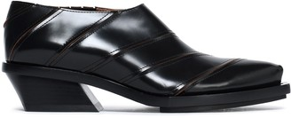 Proenza Schouler Paneled Glossed-leather Brogues