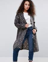 Lulu Guinness Cath Kidston Raincoat Kew Sprig Charcoal M-L