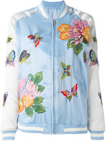 P.A.R.O.S.H. floral embroidery bomber jacket - women - Polyester - XS