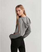 Express split sleeve hooded thong bodysuit