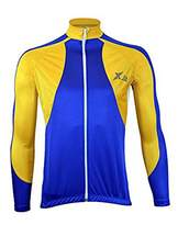 X-2 Men's Breathable Anti Bacterial Long Sleeve Cycling Jersey XL