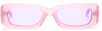 Linda Farrow X The Attico Mini Marfa Acetate Sunglasses - Pink