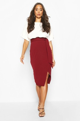 boohoo Batwing Colour Block Midi Dress