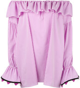 Blugirl off-the-shoulder blouse - women - Cotton/Polyamide/Spandex/Elastane - 38