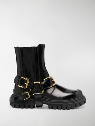 Dolce & Gabbana Buckle Ankle Boots