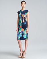 Lela Rose Abstract-Print Sheath Dress