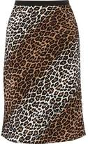 Elizabeth and James Adina Leopard-Print Silk Skirt