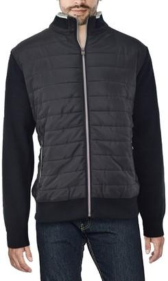 X-Ray Men's Regular-Fit Lightly-Padded Hybrid Sweater Jacket