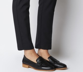 Office Friendship Soft Loafers Black Leather