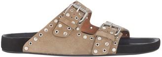 Isabel Marant Lennyo Suede Slide Sandals