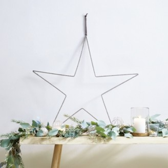 The White Company Beaded Star - 60cm, Silver, One Size