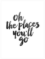 Art.com Oh the Places You'll Go by Brett Wilson Unframed Wall Art Print