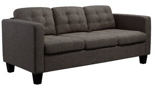 "Ebern Designs Southborough 3 Seat 74.8"" Square Arm Sofa Upholstery Color: Bark"